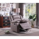 Addison Grey Microfiber Recliner